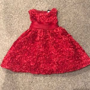 Girls 2t red ruffle party dress